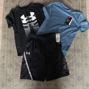 Under Armour shirts and shorts